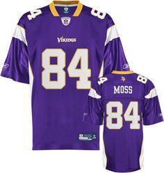 Reebok Minnesota Vikings Randy Moss 84 Purple Replica Jersey Sale