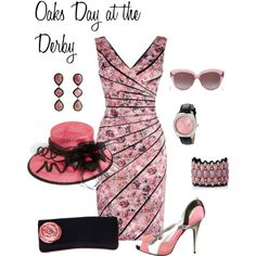 Kentucky Oaks by lwilkinson on Polyvore featuring moda, Phase Eight, Giuseppe Zanotti, Invicta, Nordstrom and Elizabeth and James