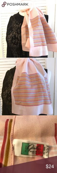 """Vintage Glentex Neck Scarf, Made in Italy This beautiful Glentex scarf was made in Italy. A beauty. Oblong shape. Poly. Fantastic condition & measures approx 43"""" long x 12"""" wide ❤️ Vintage Accessories Scarves & Wraps"""