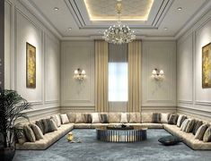 Paying attention to the details of the design is essential in creating a luxury living room interior design House Ceiling Design, Ceiling Design Living Room, Decor Home Living Room, Living Room Furniture Arrangement, Home Room Design, Home Design Decor, Home Decor Furniture, Home Interior Design, Living Room Designs