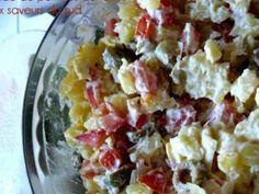 Une jolie salade à déguster en entrée ou en accompagnement d'un plat - Recette Plat : Salade de pommes de terre aux saveurs du sud par Orne