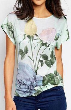 Floral print Blouse T-Shirt – Trendy Road