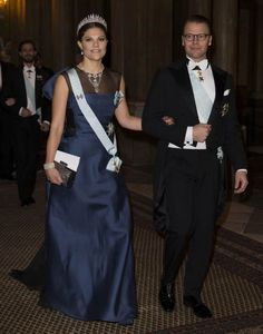 12 December 2014 - Swedish Royal Family host a dinner in honour of the 2014 Nobel Prize Laureates at the Royal Palace in Stockholm