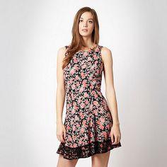 H! by Henry Holland Designer black 'vintage rose print' dress- at Debenhams.ie