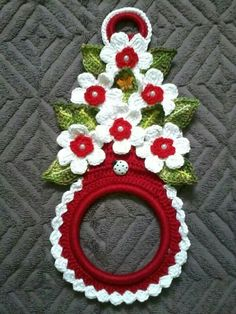 Christmas towel holder