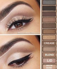 Blending Eyeshadow, Eyeshadow Looks, Eyeshadow Makeup, Urban Decay Eyeshadow, Urban Decay Makeup, Urban Decay Smokey Palette, How To Use Eyeshadow, Liquid Makeup, Gel Eyeliner