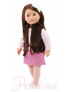 Your child will enjoy extra fun with these fashion doll from Our Generation. Our Generation Regular Doll - Sienna Og Dolls, Girl Dolls, Poupées Our Generation, Our Generation Doll Clothes, Divas, Girl Hair Colors, Sienna, Brown Vest, Brown Hair