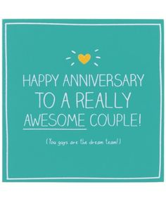 Happy Anniversary To A Really Awesome Couple Card from Happy Jackson Happy Anniversary Wedding, Anniversary Quotes For Husband, Anniversary Wishes For Friends, Happy Aniversary, Anniversary Greetings, Happy Anniversary Quotes Funny, Birthday Greetings, Anniversary Meme, Birthday Cards