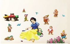 Wall Stickers for Kids Stick Wall Decals Decoration Wall Sticker Decal - Snow White and the Seven Dwarfs by , http://www.amazon.com/dp/B0088I33AU/ref=cm_sw_r_pi_dp_o0f0pb158P9B1