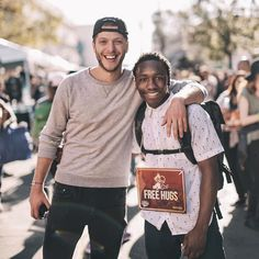 • Such an incredible blessed weekend to be able to fly out my bro Devante from Denver for his first time in LA, and now he's doesn't want to leave! . • We joined along side @wayfarerla @justinbaldoni @redeyeinc @ph8foundation and many more incredible partners to hang out on Skid Row for the day along side hundreds of homeless friends and volunteers for free haircuts, meals, job programs, health care, pet supplies, feet washing, and tons more! O and you can see by his sign baby swain was also…