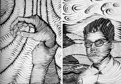 using the lines creates a sort of optical illusion to the viewer
