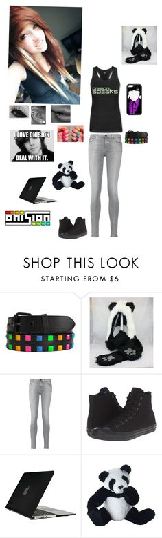 """Female Onision Fan"" by kristina-shadowheart ❤ liked on Polyvore featuring 7 For All Mankind, Converse, Speck and Panda"