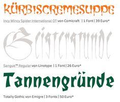 Herbstfonts: zum brodeln, beschwören und den Düsterwald http://www.fontshopblog.de/2012/09/26/typen-zum-gruseln/