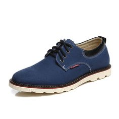 US Size 6.5-11 Men Casual Breathable Comfortable Fashion Flat Lace Up Oxfords Sh - US$32.84