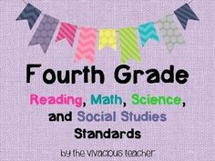 This bundle includes the Common Core Standards Posters for Fourth Grade Reading and Math as well as the Common Core Georgia Performance Standards Posters for Fourth Grade Science and Social Studies. http://www.thevivaciousteacher.com