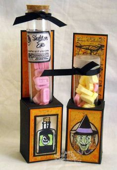 Halloween Test Tube Treats by Lisa S - Cards and Paper Crafts at Splitcoaststampers