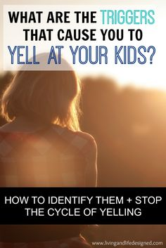 A great article on yelling - not only how to stop, but how to be aware of what causes us to yell at our kids. Figuring out the triggers to yelling and loosing our patience is the hardest part of stopping the yelling cycle.