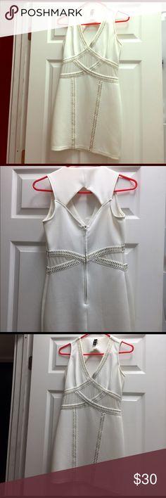 Windsor white mini dress White, see through mesh, and gold studs WINDSOR Dresses Mini