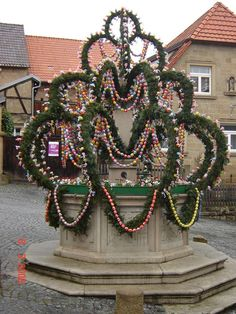 The Osterbrunnen (Easter Well or Easter Fountain) is a German tradition of decorating public wells or fountains with Easter eggs for Easter.