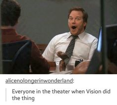 """Age of Ultron and YES. The whole theater was like """"ohhhh"""". Plus his powers and his existence in the movie like it was all amazing --- that was the greatest moment of that entire movie! OH MY WORD! Makes me so happy!"""