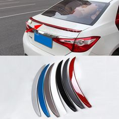 59.99$  Buy here - http://alimf9.shopchina.info/go.php?t=32742802483 - Car Styling ABS Material Roof Spoiler Without The Paint Auto Decoration External Decoration For Toyota Corolla 2014-2016  #buyininternet