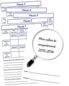 Cahier de comportement 2013-2014