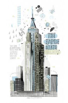 Dibujos de edificios de Nueva York por James Gulliver Hancock.