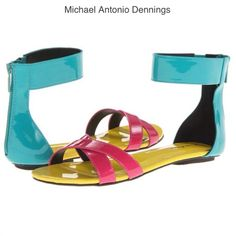 NIB ADORABLE COLORFUL SANDALS NIB. Details in picture 3 however feel free to ask any questions.❌NO PP NO TRADES❌ Bundle 2 or more listings for 15% off. Michael Antonio Shoes Sandals
