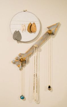 rustic glam jewelry holders, crafts, organizing, storage ideas