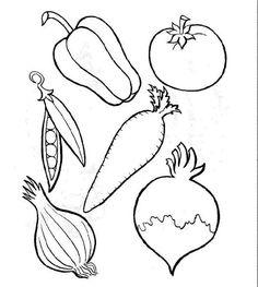 Obst Zum Ausmalen Obst Gemse Pinterest Ausmalen