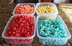 It's national popcorn day! I wanted to come up with a fun recipe to share with you all today to celebrate. I ended up adapting the Sugar Crunch Popcorn recipe that has been living in my archi… Jello Popcorn, Sugar Popcorn, Popcorn Snacks, Popcorn Balls, Candy Popcorn, Flavored Popcorn, Gourmet Popcorn, Popcorn Recipes, Candy Recipes