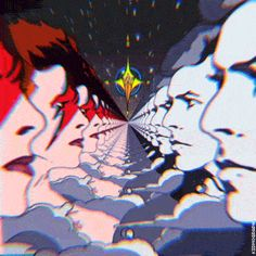 Ziggy Stardust, David Bowie, gif, illustration, pop art, by Space Grunge