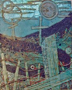 Collagraph Plate by indiandollartworks, via Flickr I always like the plates more than the prints they produce.