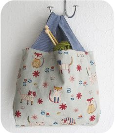 Here Kitty Kitty Tote Market Project Shopping Bag