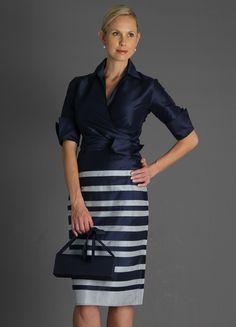 Zambi Pencil Skirt - Midnight and Silver