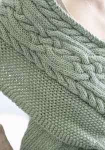Caron International | Free Project | Celtic Cables Wrap  Think this cable would make a great afghan