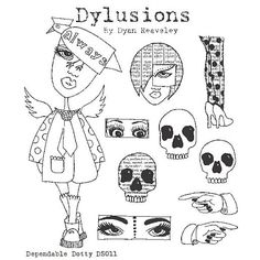 "Nona Designs - Dyan Reaveley ""Dylusions"" Cling Mount Stamps by Stampers Anonymous"