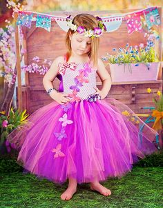 Butterfly Princess Fairy Purple and Pink Tutu Dress Infant to Girls on Etsy, $45.00