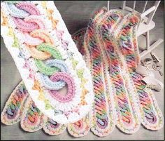 Mile a Minute Interlocking Rings Blanket - Tutorial with photos     COLOR