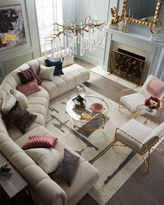 Fancy Living Rooms, Elegant Living Room, Home Living Room, Living Room Furniture, Living Room Designs, Living Room Decor, Elegant Home Decor, Romantic Living Room, Beautiful Living Rooms