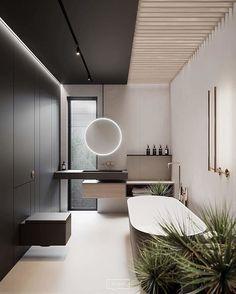 Modern bathroom design ideas plus tips for decor colours and styles 2 Contemporary Bathroom Designs, Contemporary Interior Design, Bathroom Interior Design, Modern Bathroom, Simple Bathroom, Modern Toilet Design, Washroom Design, Contemporary Style, Bad Inspiration