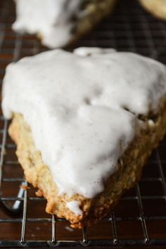 banana walnut scones with a browned butter icing