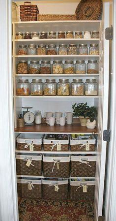 Awesomely organized pantry
