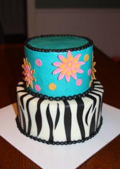Birthday Cake designed by 7 year old Carley!