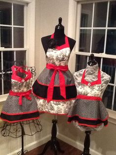 Custom Order: Adorable Child's Apron 2 Tier by MothersApronString