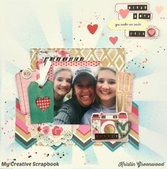 Selfie+**My Creative Scrapbook February 2016 Main kit. We R Memory Keepers - Crush Collection