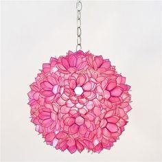 Pink Capiz Pendant Light