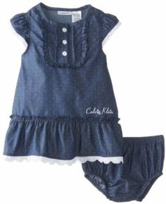 Calvin Klein Baby-Girls Infant Chambray Dress with Panty  Price: $28.99  You Save: $13.01