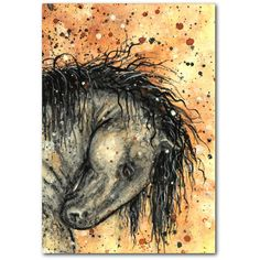 Dreamwalker Abstract Horse ArT -Limited Edition ACEO Print by AmyLyn... ($7.99) ❤ liked on Polyvore