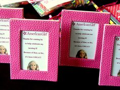 American Girl Party Favors - Picture Frames